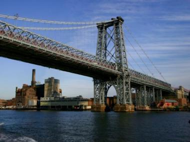 Three teens were arrested Saturday for climbing on the Williamsburg Bridge.