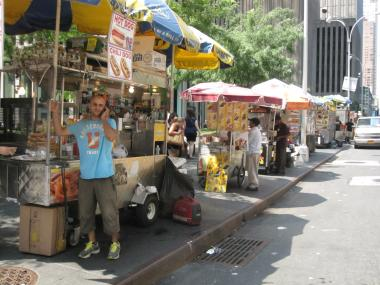 Food carts and trucks have become increasingly dominant on Manhattan Streets.
