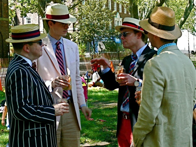 The American Ivy league look found solid footing at the dawn of the 20s, shown here with hard and soft straw boaters and Panama hats.
