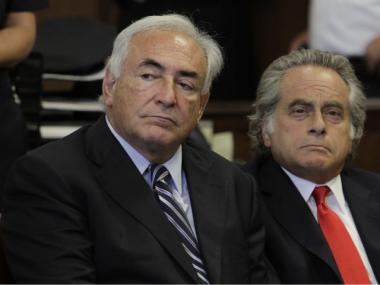 Dominique Strauss-Kahn appears in court Tuesday, Aug. 23, 2011.