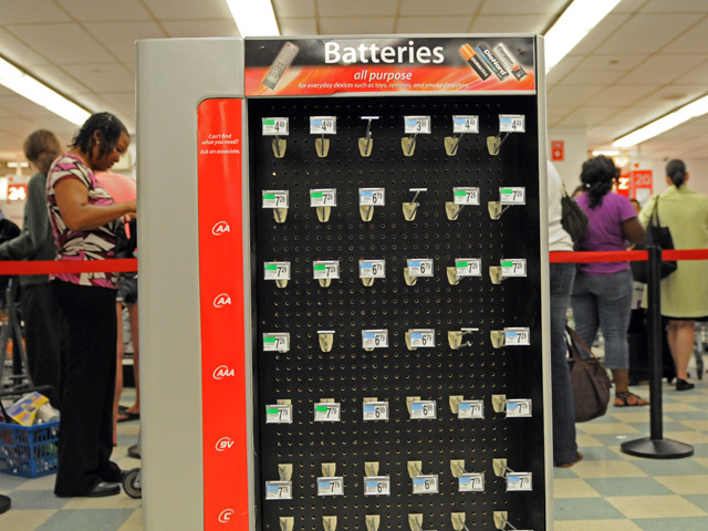K-Mart in Penn Station ran out of batteries on Friday, Aug. 26 within two hours of opening.