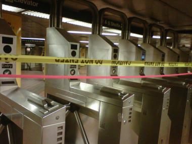 The subway station at Grand Central Terminal was closed by the MTA at noon on Saturday.