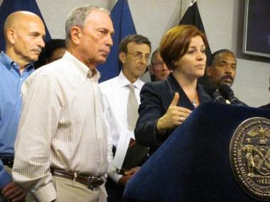 City Council Speaker Christine Quinn filed suit on behalf of the COuncil regarding the Bloomberg administration's controversial new homeless policy.