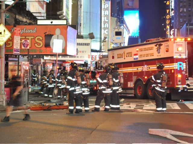Sage Theater fire, Aug. 30, 2011, Times Square, NYC, NY.