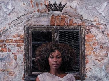 'Coronation,' a portrait that will be featured in Tim Okamura's upcoming exhibition.