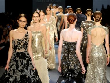 A Naeem Khan runway show during February 2011's Fashion Week. The environmental group GrowNYC is holding clothing-recycling events timed to coincide with Fashion Week.