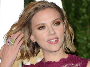 Scarlett Johansson arrives at the Vanity Fair Oscar party hosted by Graydon Carter held at Sunset Tower on Feb. 27, 2011, in West Hollywood, Calif.