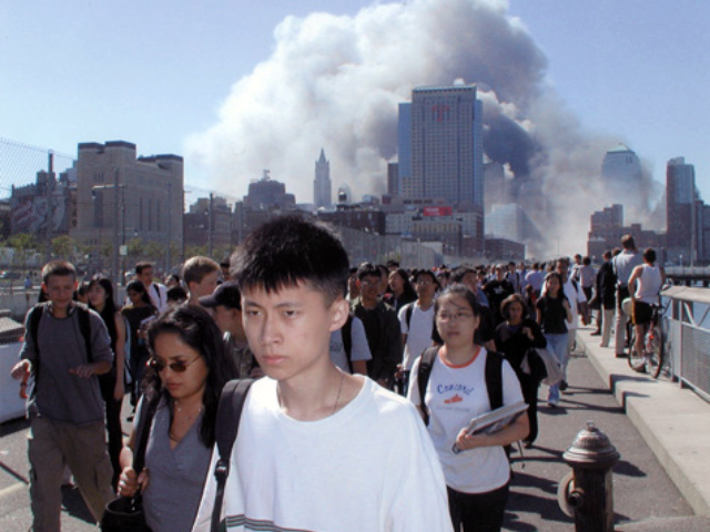 Stuyvesant High School students were evacuated on 9/11.