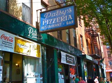 Patsy's Pizzeria is located at at 2287 First Ave., between 118th and 119th streets.