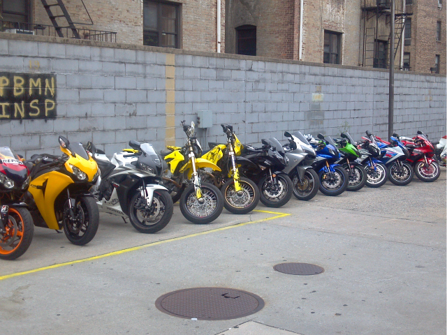 Cops confiscated 14 illegal bikes in Northern Manhattan over Labor Day weekend 2011.