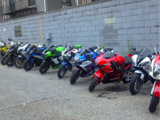 The motorcycles removed from teh streets of Northern Manhattan