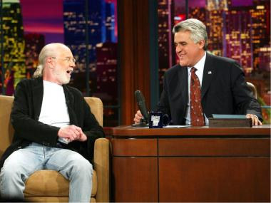George Carlin during a 2003 appearance with Jay Leno.