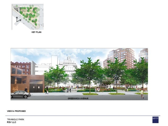 The design for the park, which was presented by landscape architect Rick Parisi of M. Paul Friedberg and Partners, would plant 31 trees and allow 4,861 sq. ft. for plantings.