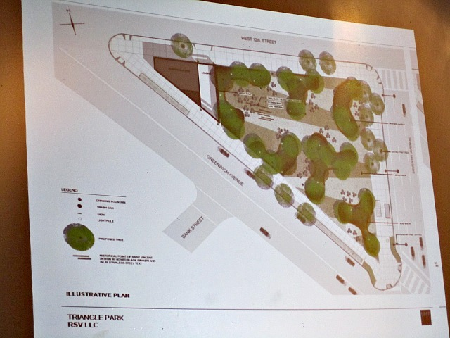 The design for the park would leave a small area on the western end of the park for oxygen tanks needed for the O'Toole Building.