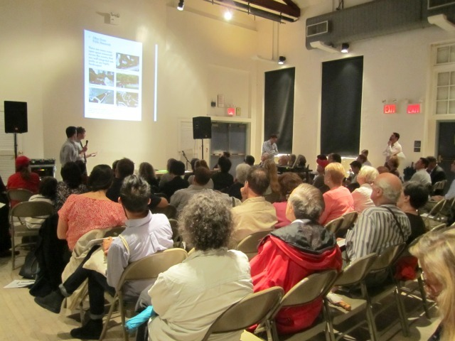 Village residents responded to the plan for the triangle of land west of Seventh Avenue between Greenwich Avenue and West 12th Street with multiple concerns about the park's character and its impact on the area.