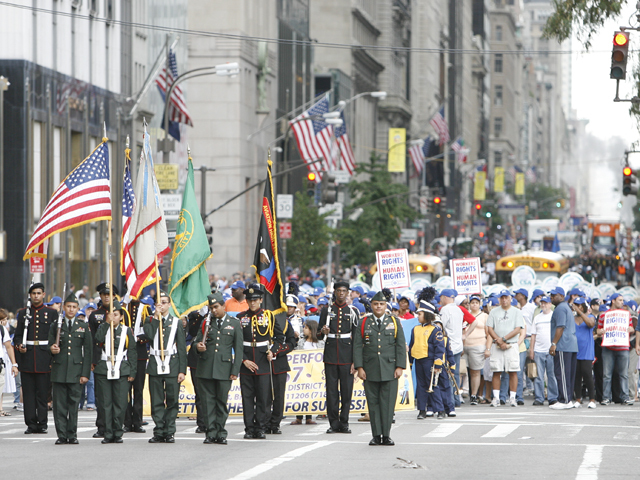 Over 100,000 people lined Fifth Avenue for the Labor Day Parade on Sept. 10, 2011.