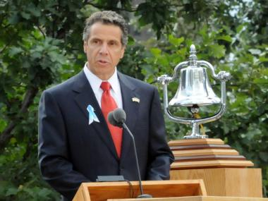 Gov. Andrew Cuomo speaks at the 9/11 10th anniversary, Sept. 11, 2011.