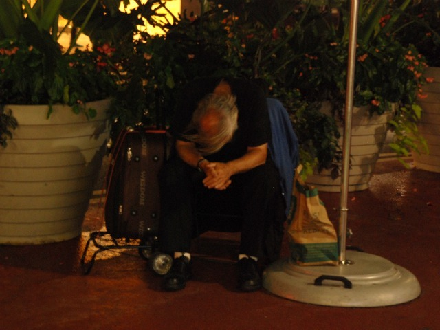 Not all of the people who sleep in the plazas appear to be homeless, but many are.