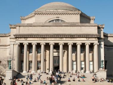 The library at Columbia University. The school hands out the Pulitzer Prizes annually to top performers in journalism and the arts.