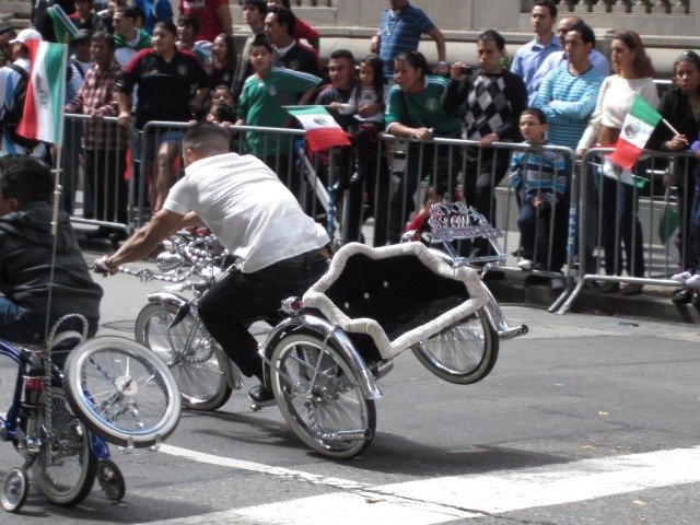 A group of lowrider bicycles took part in the Mexican Independence Day Parade on Madison Avenue on Sept. 18, 2011.