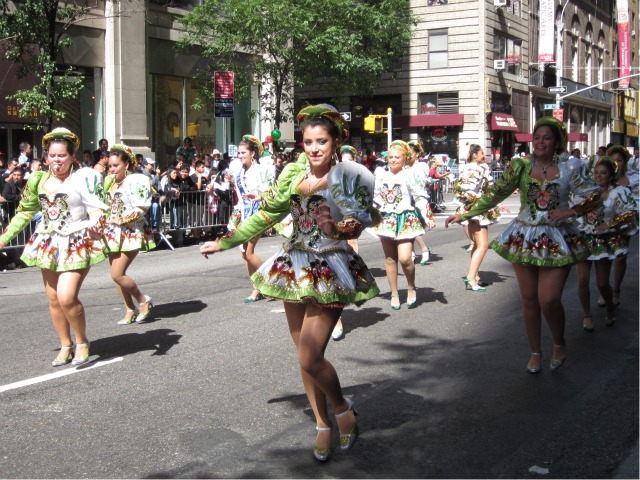 Dancers perform at the Mexican Independence Day Parade on Madison Avenue on Sept. 18, 2011.