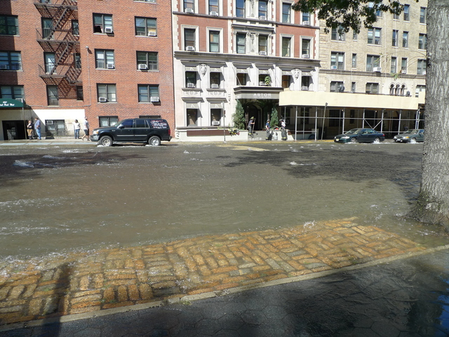 A water main break at Central Park West and West 106th Street flooded streets, basements and subway stations.