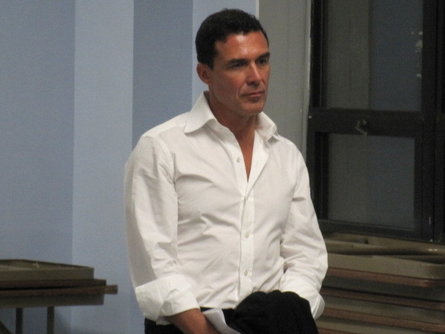 Andre Balazs spoke to members of Community Board 3 on Mon., Sept. 19, 2011.