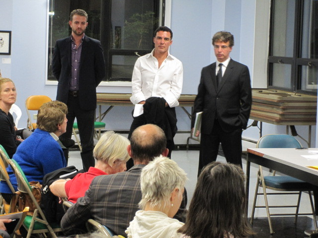Andre Balazs listened to residents at a meeting of Community Board 3's liquor license committee on Mon., Sept. 19, 2011.
