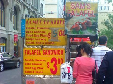 Sam's Falafel in Downtown.