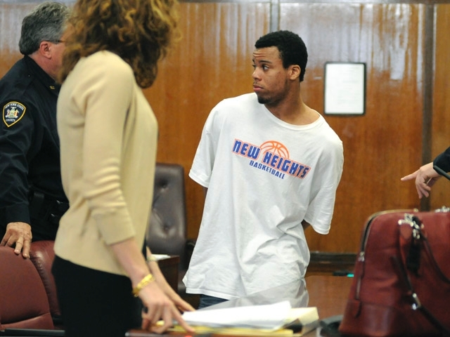 Alleged gang member Jarel Robinson during a court appearance after his arrest in February 2011.