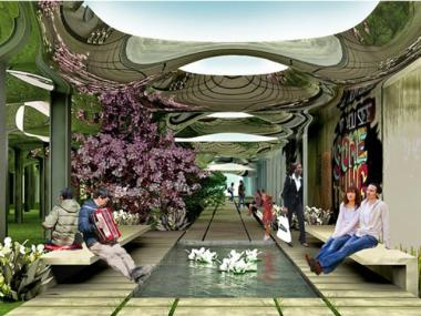 "The ""Delancey Underground"" project would turn the underground space into a community park that uses solar lighting."