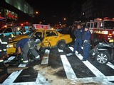 Alleged Drunk Driver Plows Into Cab on 125 Street, Injuring Three