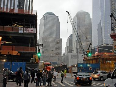 Lower Manhattan construction in September 2011.