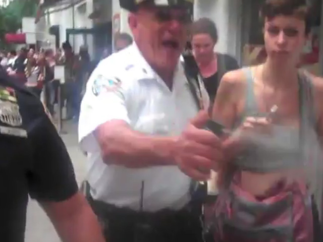 A video released on YouTube appears to show an officer pepper spraying Occupy Wall Street protesters on Sept. 24, 2011.