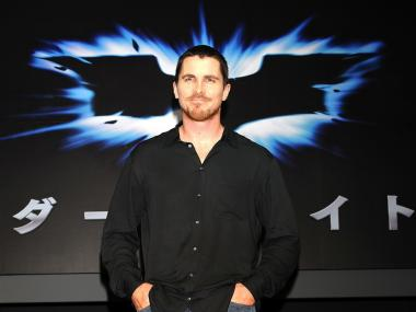 "Christian Bale attends the Japan opening of ""The Dark Knight in 2008."