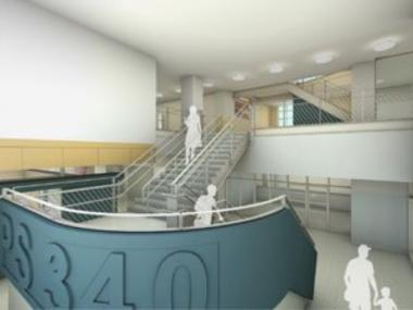A rendering of the new Foundling school.