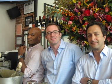 Cedric French Bistro's managing partner (from left) Dard Coaxum and co-owners Cedric Lecendre and Fabrizio Khanlari.