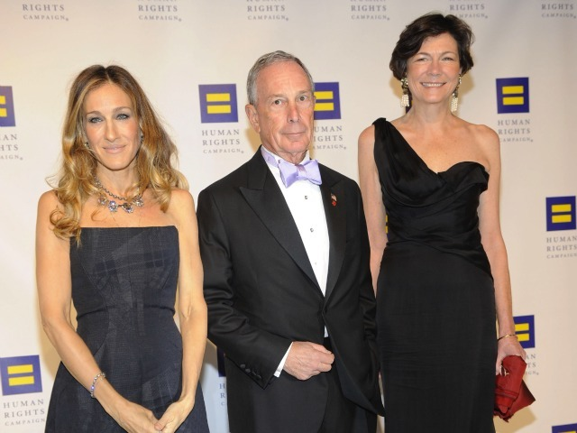 Sarah Jessica Parker, Michael Bloomberg and Diana Taylor attend the 15th Annual Human Rights Campaign National Dinner at the Washington Convention Center on October 1, 2011 in Washington, DC.
