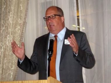 Outgoing Port Authority Executive Director Chris Ward spoke to the Lower Manhattan Marketing Association Oct. 5, 2011.