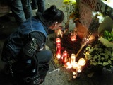 Friends of Late East Village Photographer Hold Vigil on Avenue A