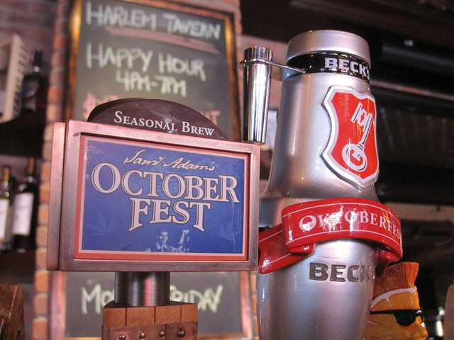 Harlem Tavern has 18 beers on tap. The restaurant hosted its first annual Oktoberfest on Oct. 22 and is a part of the growing number of bar and restaurants on Frederick Douglass Boulevard in Harlem. Co-owner Sherri Wilson-Daly says a 2 a.m. limit on liquor licenses would be bad for business.