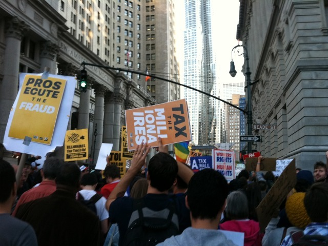 Thousands of protesters came to the Occupy Wall Street rally in Foley Square on Oct. 5, 2011.