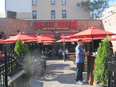 Harlem Tavern opened in July and is located at Frederick Douglass Boulevard and West 116th Street.