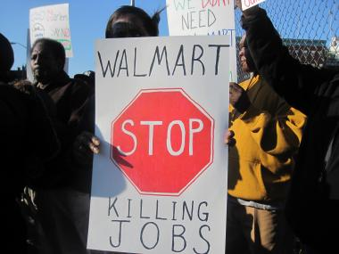 Members of Harlem United Against Walmart said on Thurs., Oct. 6, that they are against the retailer opening a location in the neighborhood.