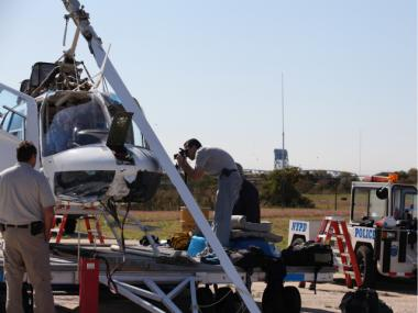Since they arrived on the scene on Tuesday, Oct. 4, 2011, NTSB investigators have been analyzing the aircraft.