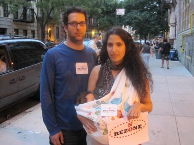 Leandro Herbstein and Vaness Merlis are afraid they'll have to send their daughter, Maya, to P.S. 33.