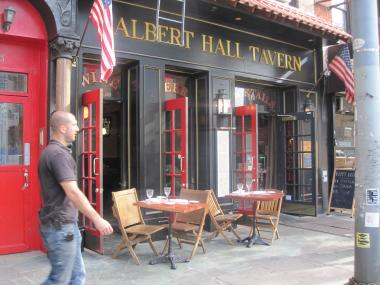 The controversial sidewalk cafe in front of Albert Hall was back on Oct. 11, 2011.
