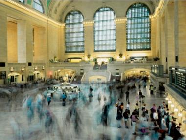 A woman fell onto a set of tracks at Grand Central Terminal during rush hour on Feb. 9, 2012.