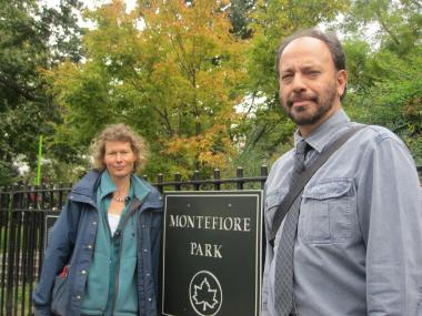 Michael Palma and Barbara Nikonorow are co-leaders of the Montefiore Park Neighborhood Association. The group is one of many working with the 30th Precinct to stem recent shootings in West Harlem, including one that happened a block from the park.