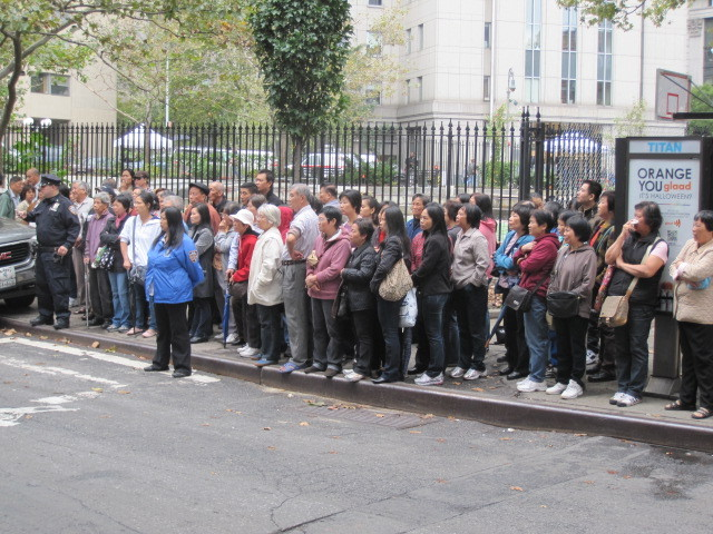 Onlookers lined Mulberry Street during the funeral procession on Thurs., Oct. 13, 2011.